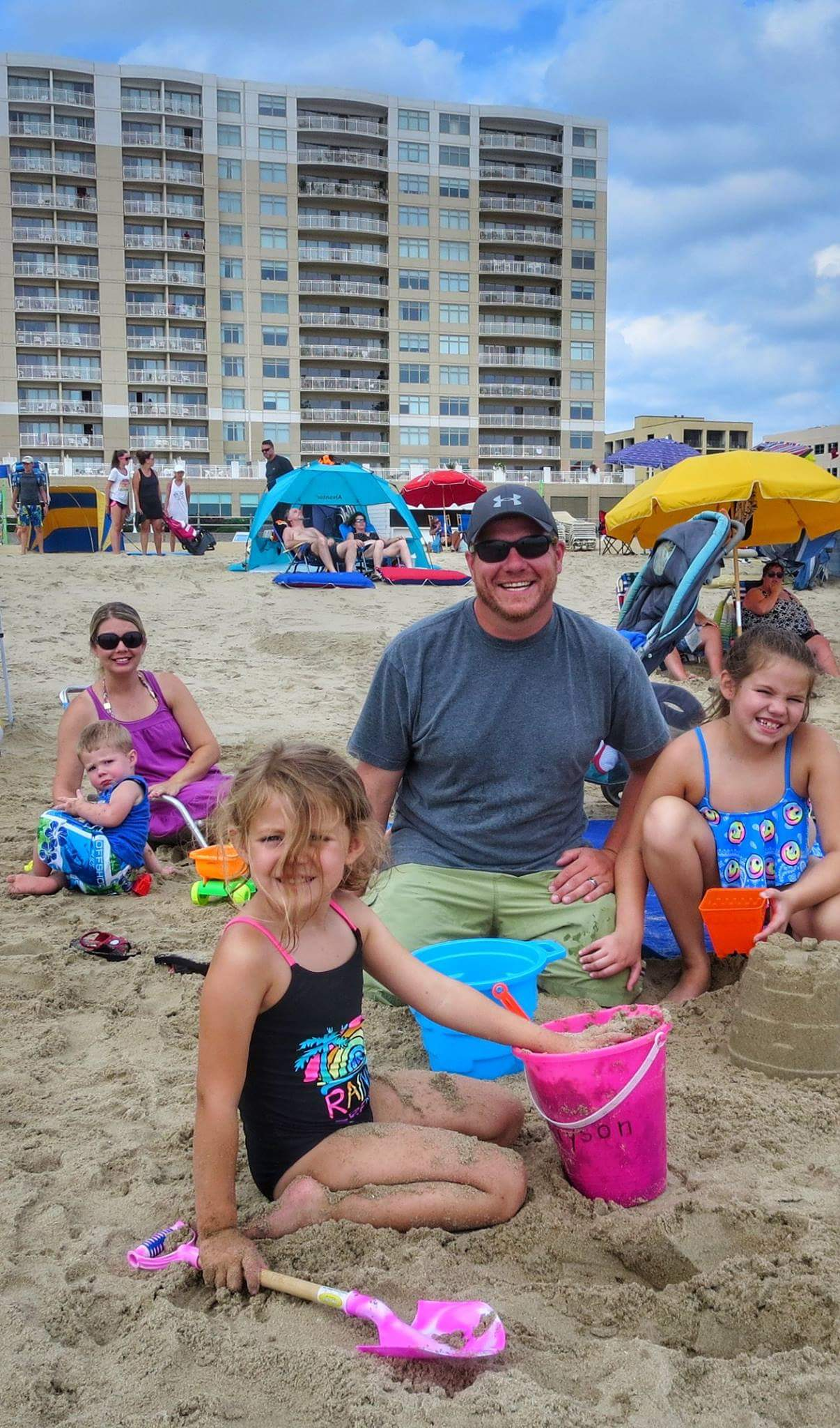 Roy Ryan enjoying some beach time with his family